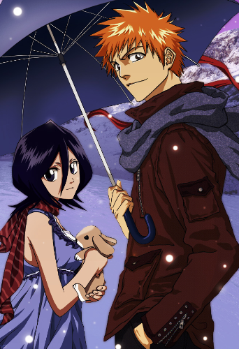 Ichigo and Rukia in winter!