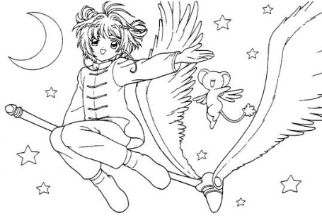 I Sometimes Bring In Pictures Like The Cardcaptor Sakura Image Above For Them To Color Ive Found Coloring Book Pages Of Doraemon Totoro One Piece