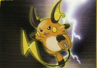 Pokemon Original Name Raichu Nickname Nickel Abilities Tail Whip Thunder Description Resembles A Large